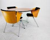 Vico Magistretti for Fritz Hansen - Maple Alloy Diner Set