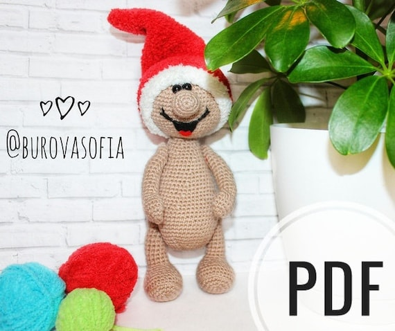 Christmas Gnomes Pattern.Christmas Gnomes Pattern Amigurumi Pattern Crochet Toy Knitted Gnome Pdf Gnome Crochet A Knitted Toy Red Cap Christmas Pattern