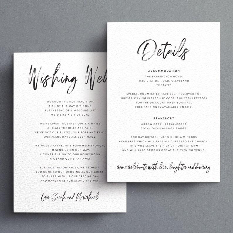 Rustic Arrows Wedding Invitations Tri-Fold Kraft Day Evening RSVP Set Info Card