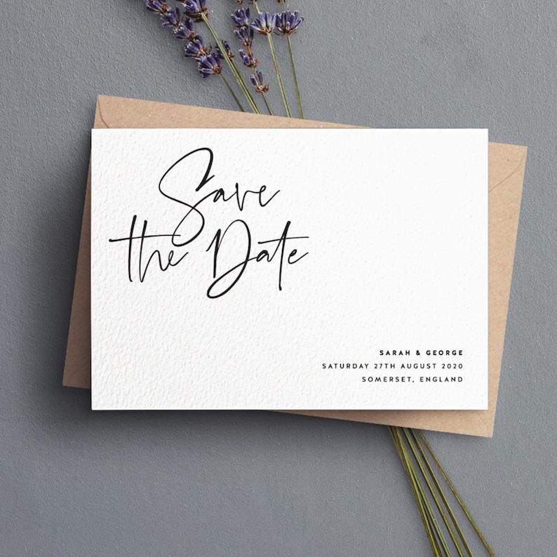 Save the Date Karten modern