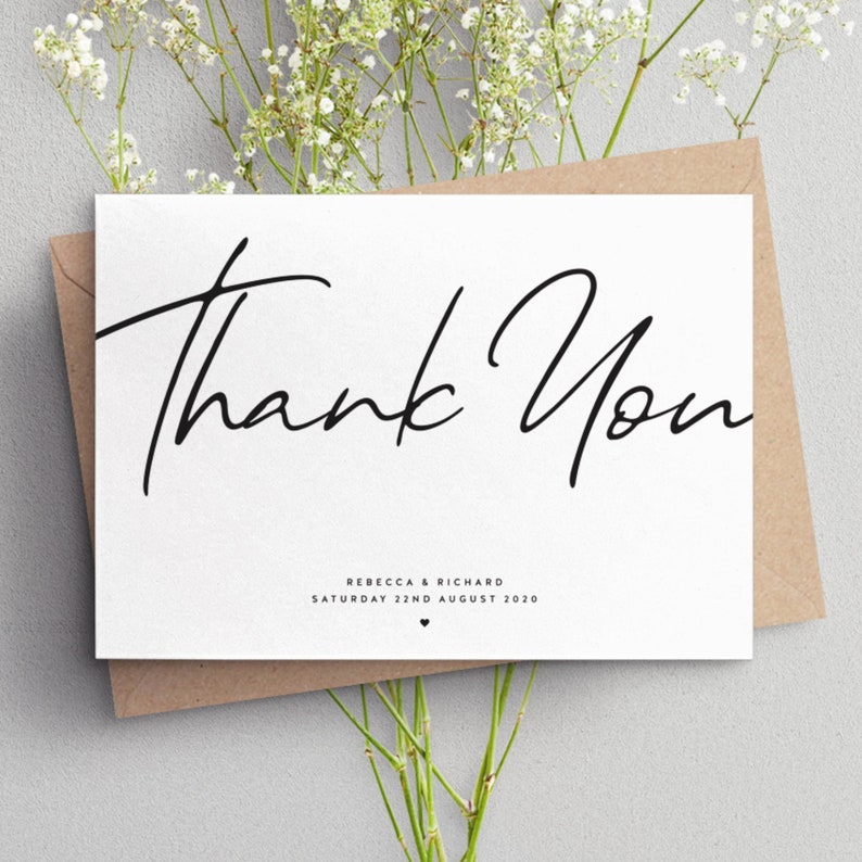Personalised Wedding Thank You Cards Simple Wedding Cards Wedding Thank You Postcards Wedding Thank You Cards Thank You Cards #089