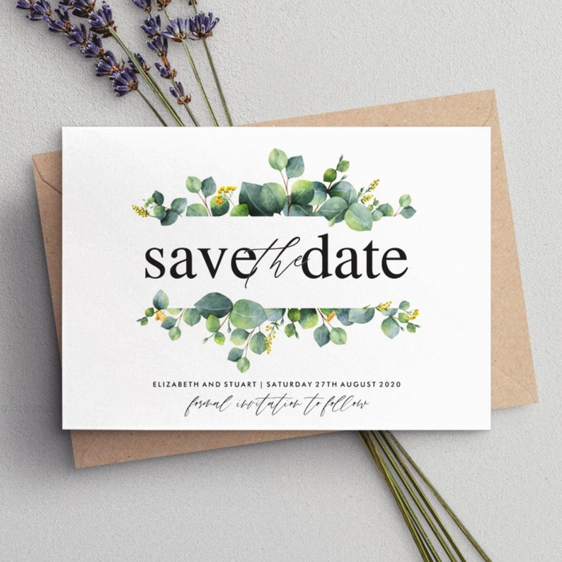 Rustic Save The Date #081 Personalised Save The Date Save The Date Cards Save the Date Calligraphy Save The Dates Simple Save The Date