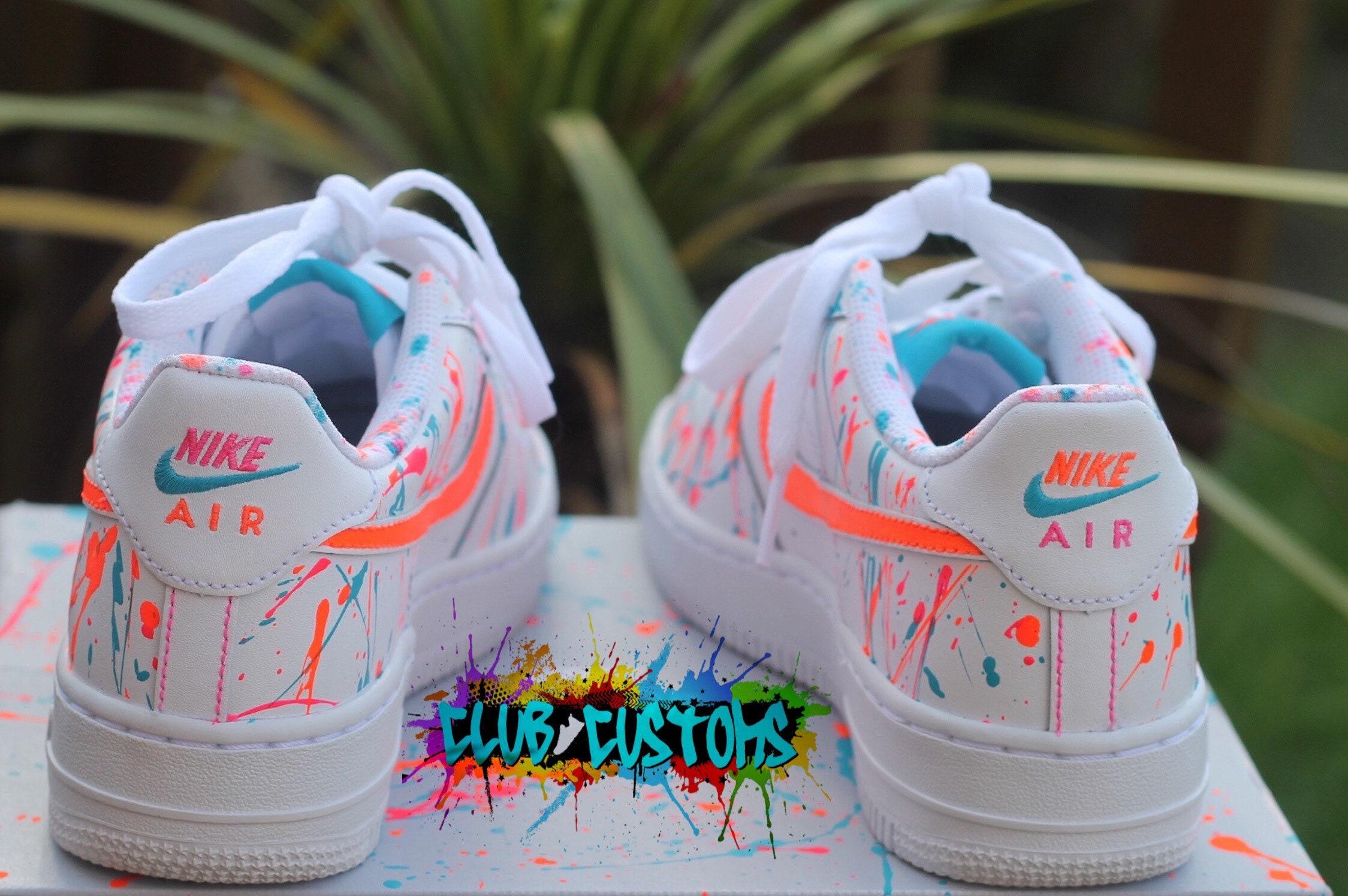Custom Nike Air Force 1 VIVID Neon Orange AF1