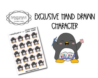 Clarence Planning / Exclusive / Hand Drawn / Character Stickers / Vertical Layout / Planner Stickers /  / Savannah Paper Co