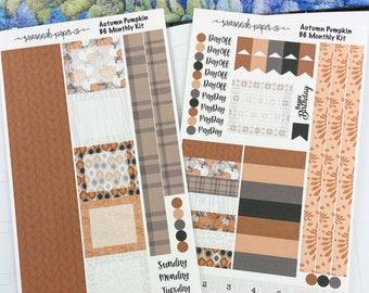 Autumn Pumpkin B6 Monthly Kit / Full Kit / PrintPressions / Planner Stickers  / Savannah Paper Co