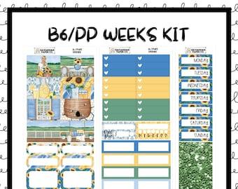 Sunshine B6 PP WEEKS Weekly Kit / B6 Full Kit / Print Pression / Vertical Layout / Planner Stickers /  / Savannah Paper Co
