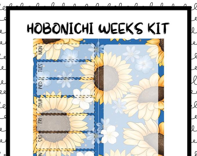 Featured listing image: Sunshine Hobonichi Weekly Kit / Full Kit / Hobo Weeks / Fauxbonichi / Planner Stickers / Hobonichi Weeks / Savannah Paper Co