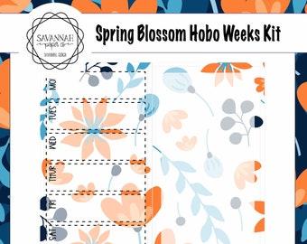 Spring Blossoms Hobonichi Weekly Kit / Full Kit / Hobo Weeks / Fauxbonichi / Planner Stickers / Hobonichi Weeks / Savannah Paper Co