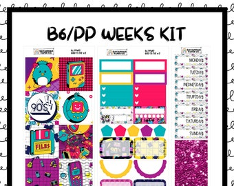 Back to the 90s B6 PP WEEKS Weekly Kit / B6 Full Kit / Print Pression / Vertical Layout / Planner Stickers /  / Savannah Paper Co