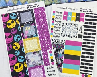 Pumpkin King B6 Monthly Kit / Full Kit / PrintPressions / Planner Stickers  / Savannah Paper Co
