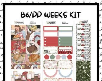 Holiday Dinner B6 PP WEEKS Weekly Kit / B6 Full Kit / Print Pression / Vertical Layout / Planner Stickers /  / Savannah Paper Co