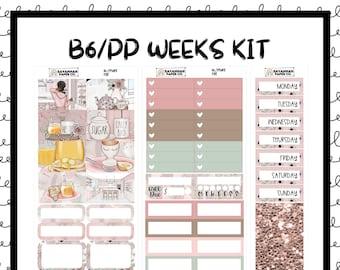 Rise B6 PP WEEKS Weekly Kit / B6 Full Kit / Print Pression / Vertical Layout / Planner Stickers /  / Savannah Paper Co