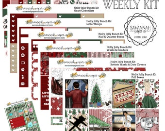 CHRISTMAS VACATION Inspired Weekly Kit / Full Kit / Mini Kit / Vertical Layout / Planner Stickers /  / Savannah Paper Co