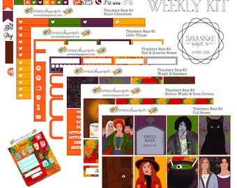 HOCUS POCUS Inspired Weekly Kit / Full Kit / Mini Kit / Vertical Layout / Planner Stickers /  / Halloween / Savannah Paper Co