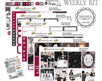 The Craft Weekly Kit / Full Kit / Mini Kit / Vertical Layout / Planner Stickers /  / Savannah Paper Co