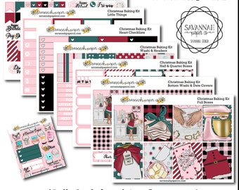 Christmas Baking Weekly Kit / Full Kit / Mini Kit / Vertical Layout / Planner Stickers /  / Savannah Paper Co