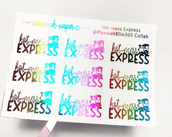 HOT MESS EXPRESS Stickers / Snarky Stickers / Functional Stickers / Vertical Layout / Planner Stickers /  / Savannah Paper Co