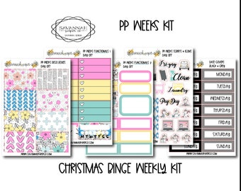 Day Off PP WEEKS Weekly Kit / Print Pression / Vertical Layout / Planner Stickers /  / Full Kit / Savannah Paper Co