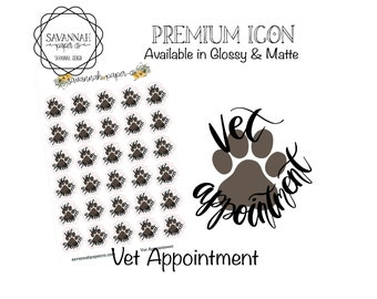 Vet Appointment Stickers / Change Sheets Icons / Functional Stickers / Erin Condren / Planner Stickers /  / Savannah Paper Co