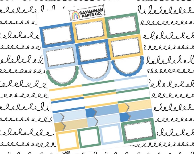 Featured listing image: Sunshine Functionals One Page Kit / Vertical Kit / B6 Kit / PP Weeks / Horizontal / Planner Stickers / Savannah Paper Co