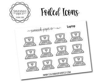 Laptop Foiled Stickers / Snarky Stickers / Functional Stickers / Planner Stickers / Savannah Paper Co