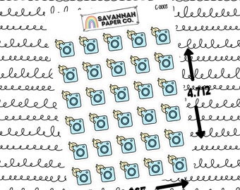 Cuties Instagram / Character Stickers / Vertical Layout / Planner Stickers Icon / Hobonichi Stickers / B6 / PP Weeks / Savannah Paper Co