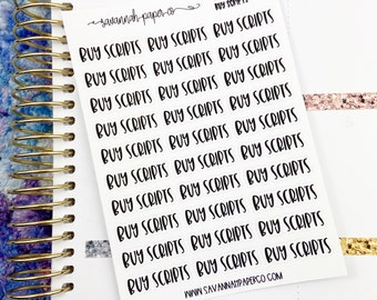 Buy Scripts Script Stickers / Words /  Functional Stickers / Planner Stickers /  Savannah Paper Co