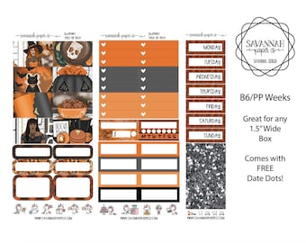 Trick or Treat B6 PP WEEKS Weekly Kit / B6 Full Kit / Print Pression / Vertical Layout / Planner Stickers /  / Savannah Paper Co