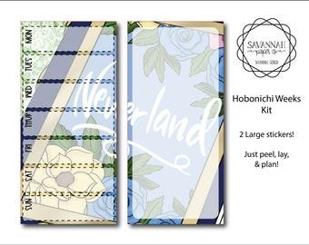Neverland Hobonichi Weekly Kit / Full Kit / Hobo Weeks / Fauxbonichi / Planner Stickers / Hobonichi Weeks / Savannah Paper Co