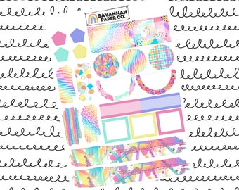My Happy Place Journaling One Page Kit / B6 Kit / PP Weeks / Horizontal /Vertical /  Planner Stickers / Savannah Paper Co