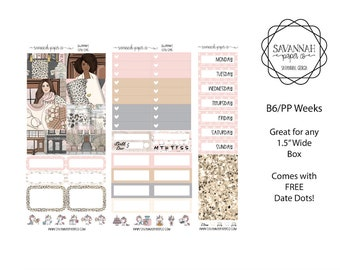 City Chic B6 PP WEEKS Weekly Kit / B6 Full Kit / Print Pression / Vertical Layout / Planner Stickers /  / Savannah Paper Co