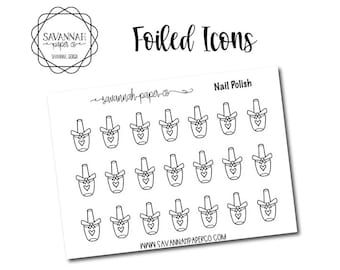 Nail Polish Foiled Stickers / Song / Icon Stickers / Functional Stickers / Planner Stickers / Savannah Paper Co
