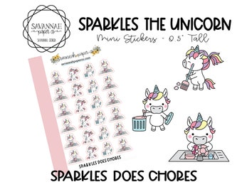 SPARKLES Does Chores / HP Micro Insert Stickers / Functional Stickers / Erin Condren / Planner Stickers /  / Savannah Paper Co