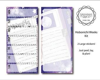 Moon Child Hobonichi Weekly Kit / Full Kit / Hobo Weeks / Fauxbonichi / Planner Stickers / Hobonichi Weeks / Savannah Paper Co