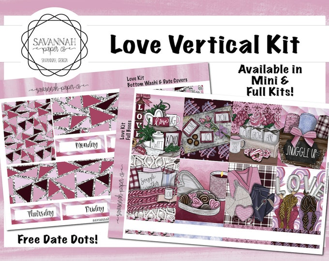 Featured listing image: Love Weekly Kit / Full Kit / Mini Kit / Vertical Kit / Savannah Paper Co