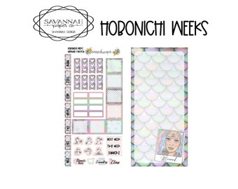 Mermaid Fantasy Hobonichi Weekly Kit / Full Kit / Hobo Weeks / Fauxbonichi / Planner Stickers / Hobonichi Weeks / Savannah Paper Co