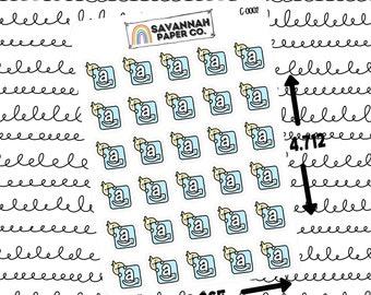 Cuties Amazon / Character Stickers / Vertical Layout / Planner Stickers Icon / Hobonichi Stickers / B6 / PP Weeks / Savannah Paper Co