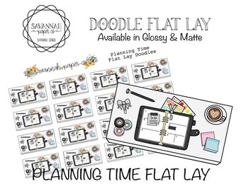 Planning Flat Lay Stickers / Flatlay Sheet Icons / Functional Stickers / Erin Condren / Planner Stickers /  / Savannah Paper Co