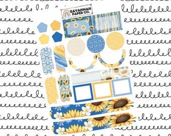 Sunshine Journaling One Page Kit / B6 Kit / PP Weeks / Horizontal /Vertical /  Planner Stickers / Savannah Paper Co