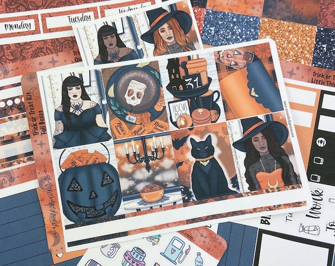Featured listing image: Trick or Treat Weekly Kit / Full Kit / Mini Kit / Vertical Kit / Savannah Paper Co