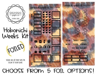 FOILED Fall Vibes Hobonichi Weekly Kit / Full Kit / Hobo Weeks / Fauxbonichi / Planner Stickers / Foiled Stickers / Savannah Paper Co