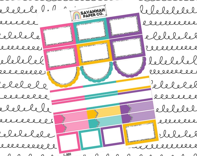 Featured listing image: Totally Rad Functionals One Page Kit / Vertical Kit / B6 Kit / PP Weeks / Horizontal / Planner Stickers / Savannah Paper Co