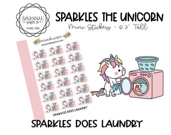 SPARKLES Does Laundry / HP Micro Stickers / Hobonichi Stickers / Vertical Layout / Planner Stickers Icon /  / Savannah Paper Co
