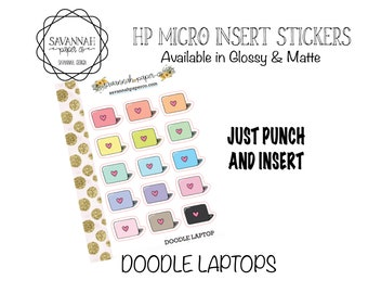 DOODLE LAPTOPS Stickers / HP Micro Insert Stickers / Functional Stickers / Erin Condren / Planner Stickers  Savannah Paper Co