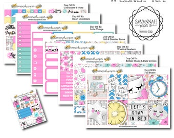 Day Off Weekly Kit / Full Kit / Mini Kit / Vertical Layout / Planner Stickers /  / Savannah Paper Co