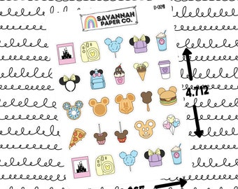 Magical World Sampler Stickers / Doodle Icons / Functional Stickers / Vertical Layout / Planner Stickers / Savannah Paper Co / D-0070