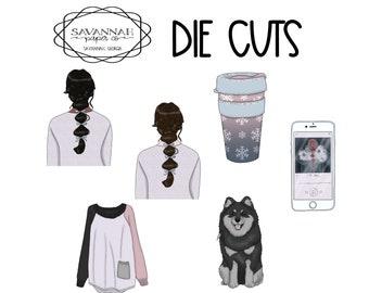 City Chill Die Cuts / Diecuts / Cardstock / Vertical Layout / TN / Scrapbooking /  / Hobonichi / Savannah Paper Co