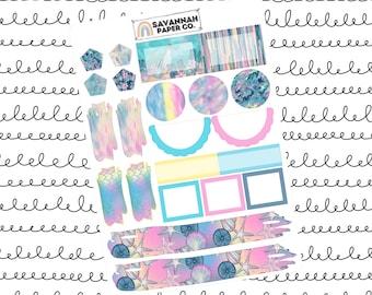 Beach Journaling One Page Kit / B6 Kit / PP Weeks / Horizontal /Vertical /  Planner Stickers / Savannah Paper Co