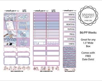 Bye 2020 B6 PP WEEKS Weekly Kit / B6 Full Kit / Print Pression / Vertical Layout / Planner Stickers /  / Savannah Paper Co