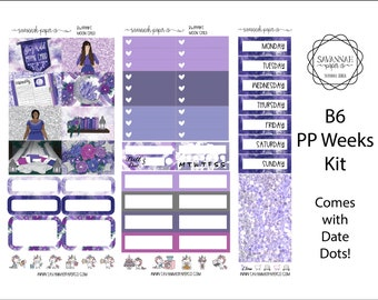 Moon Child B6 PP WEEKS Weekly Kit / B6 Full Kit / Print Pression / Vertical Layout / Planner Stickers /  / Savannah Paper Co